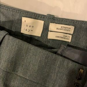 A New Day wide leg stretch dress pants gray